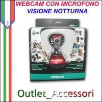 Webcam WEB CAM con Microfono Notte Rossa