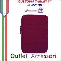 Custodia Cover per Tablet 7'' Nylon Rossa Fuxia