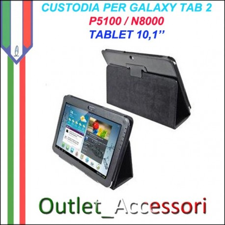 Custodia Cover per Tablet 10.1 Samsung Tab P5100 P5110 NOTE N8000