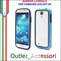 Bumper Cover Custodia Blu per Samsung Galaxy S4 I9500 I9505