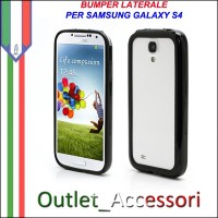Bumper Cover Custodia Nero Black per Samsung Galaxy S4 I9500 I9505