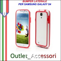 Bumper Cover Custodia Rosso Red per Samsung Galaxy S4 I9500 I9505