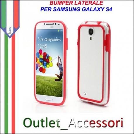 Bumper Cover Custodia Rosso Red per Samsung Galaxy S4 I9500 I9505