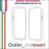 Bumper Cover Custodia Trasparente Bianco per Samsung Galaxy S4 I9500 I9505