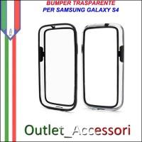 Bumper Cover Custodia Trasparente Nero per Samsung Galaxy S4 I9500 I9505