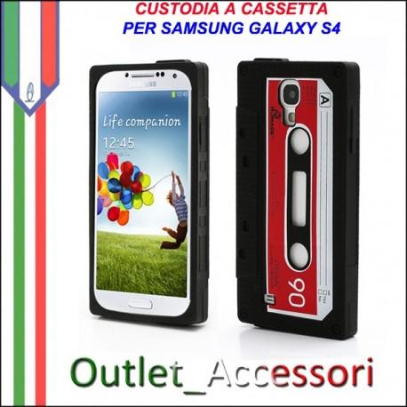 Cover Custodia Cassetta Nastro per Samsung Galaxy S4 I9500 I9505