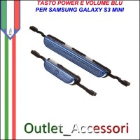 Tasti Tasto Volume Accensione Power Blu per Samsung Galaxy S3 Mini I8190 GT