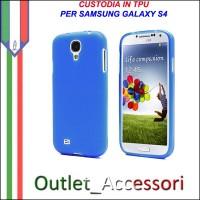 Cover Custodia Case TPU Silicone BLU Azzurra per Samsung Galaxy S4 I9500 I9505