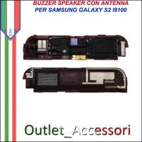 Buzzer Speaker Loudspeaker Chiamata Nero per Samsung Galaxy S2 I9100