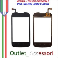 Ricambio Vetro Touch Screen Touchscreen per Huawei U8652 FUSION Originale
