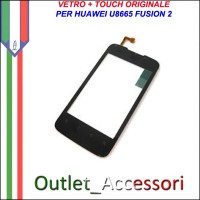 Ricambio Vetro Touch Screen Touchscreen per Huawei U8665 FUSION 2 Originale