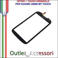 Ricambio Vetro Touch Screen Touchscreen per Huawei U8680 MYTOUCH Originale