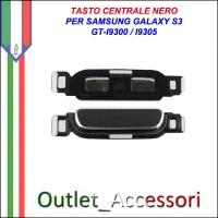 Tasto Pulsante Centrale Home Nero Black per Samsung Galaxy S3 GT-I9300