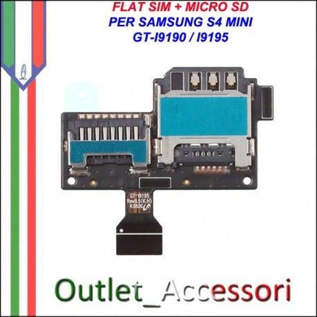 Flat Flex Connettore Lettore Sim Scheda Memory Card Sd per Samsung Galaxy S4 Mini I9190 I9195 Ricambio Originale