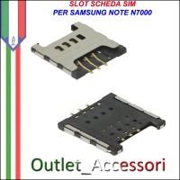 Flat Flex Connettore Lettore Sim Scheda per Samsung Galaxy Note N7000 Ricambio Originale