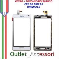 Touch Touchscreen Vetro Ricambio Originale LG L5 E610 BIANCO con Frame