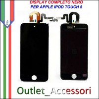 Display Lcd Touch Touchscreen Schermo per Apple Ipod 5 5g Nero Black