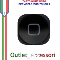 Tasto Pulsante Home Centrale Nero per Apple Ipod Touch 5 5g