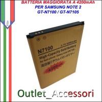 Batteria Maggiorata Potenziata per Samsung Galaxy Note 2 N7100 N7105 GT 4200mAh