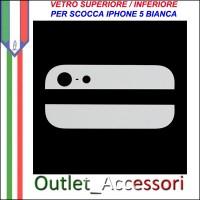 Vetro Glass Posteriore Back Bianco White Cover per Iphone 5 5g