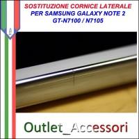 Riparazione Sostituzione Cambio Cornice Telaio Frame Rotto per Samsung Galaxy Note 2 Noe2 N7100 N7105