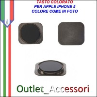 Pulsante Tasto home Centrale Colorato Ricambio Originale per Apple Iphone 5 5g