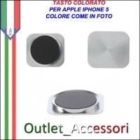 Pulsante Tasto home Centrale Colorato Ricambio Originale per Apple Iphone 5 5g