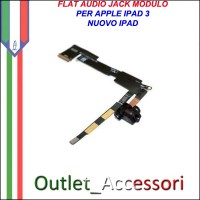 Flat Flex Ricambio Modulo Jack Audio per Apple Ipad 3 Ipad3 Nuovo