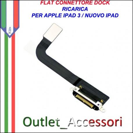 Flat Flex Ricambio Modulo Dock Carica Ricarica Connettore per Apple Ipad 3 Ipad3 Nuovo
