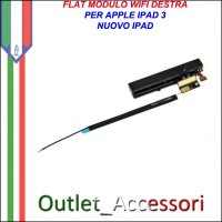Flat Flex Ricambio Modulo Antenna Destra WIFI Lunga per Apple Ipad 3 Ipad3 Nuovo