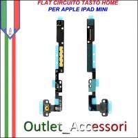 Flat Flex Modulo Home Tasto Ricambio per Apple Ipad Mini Bianco