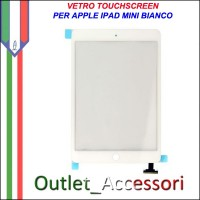 Vetro Touch Touchscreen per Apple Ipad Mini Bianco White