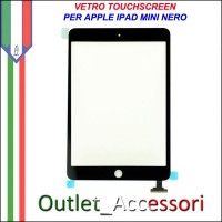 Vetro Touch Touchscreen per Apple Ipad Mini Nero Black