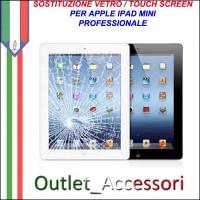 Sostituzione Riparazione Cambio Assemblaggio Vetro Touch Rotto Apple Ipad Mini