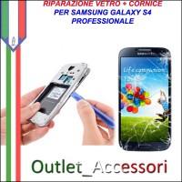 Riparazione Sostituzione Cambio Cornice Telaio Frame Vetro Rotto per Samsung Galaxy S4 I9505 I9500