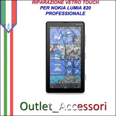 Sostituzione Riparazione Cambio Vetro Touch Screen Schermo Rotto per Nokia Lumia 820