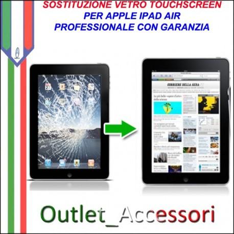 Sostituzione Riparazione Cambio Assemblaggio Vetro Touch Rotto Apple Ipad Air
