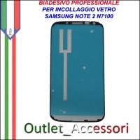 Adesivo Biadesivo Colla per Vetro Galaxy Note 2 N7100 N7105 LTE Samsung Professionale 3M