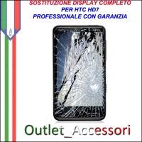 Sostituzione Riparazione Cambio Display Lcd Vetro Touch Touchscreen Schermo Rotto per HTC HD7