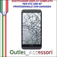 Sostituzione Riparazione Cambio Display Lcd Vetro Touch Touchscreen Schermo Rotto per HTC ONE M7