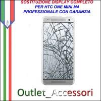 Sostituzione Riparazione Cambio Display Lcd Vetro Touch Touchscreen Schermo Rotto per HTC ONE MINI M4
