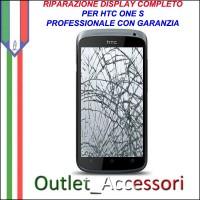 Sostituzione Riparazione Cambio Display Lcd Vetro Touch Touchscreen Schermo Rotto per HTC ONE S