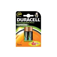 Batteria Pila Duracell Stilo AA Ricaricabile Originale Supreme in Blister X2