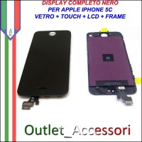 Display Lcd IPHONE 5C A1456, A1507, A1516, A1529, A1532 Touch Screen Vetro Schermo per Apple Nero