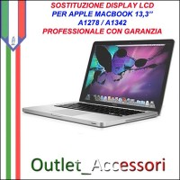 Riparazione Display Lcd Apple MacBook Unibody A1342 A1278 13'' Cambio Schermo Rotto
