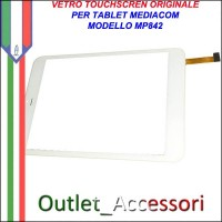 Vetro TouchScreen Touch Mediacom MP842 MP-842 BIANCO Tablet Ricambio Originale