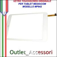 Vetro TouchScreen Touch Mediacom MP842 MP-842 BIANCO Tablet Ricambio Originale