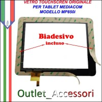 Vetro TouchScreen Touch Mediacom MP850i MP-850I Tablet Ricambio Originale