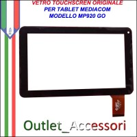 Vetro TouchScreen Touch Mediacom MP920 GO MP-920GO Tablet Ricambio Originale