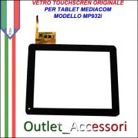 Vetro TouchScreen Touch Mediacom MP932i MP-932i Tablet Ricambio Originale